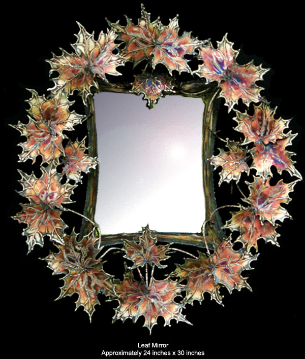 Leaf Mirror - approximately 24